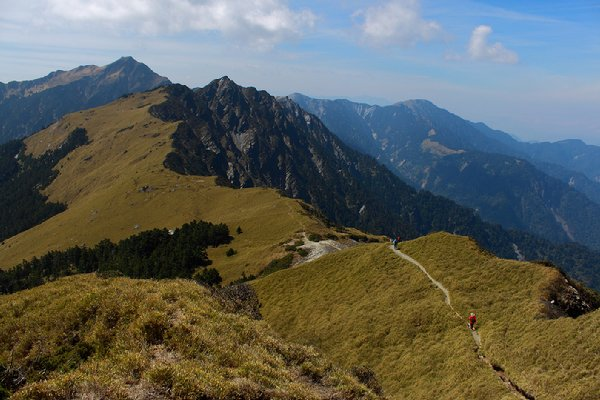 奇萊北主峰的稜線