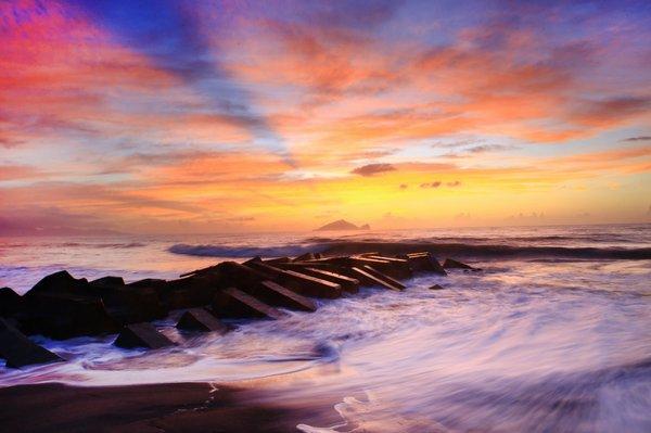 龜山島日出晨彩